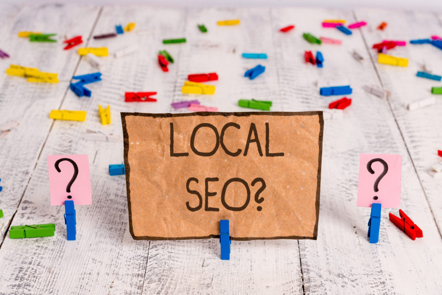 Local Seo. Business photo text incredibly effective way to market your local business online